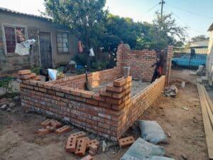 Broiler Chicken enclosure under construction